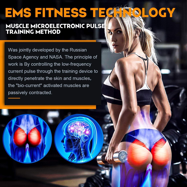 Hip Stimulator Electrostimulateur Musculaire Fesser,Home Office Gym Workout /Équipement pour Fesse//Jambes Formation Hommes Femmes EGEYI Hips Trainer Electrostimulateurs fessier,EMS Fessier Hanche