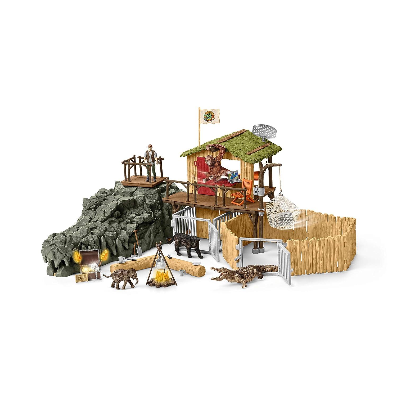 Schleich - 42350 - Kit - Station de Recherche Croco Dans Jungle