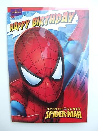 Amazon.com: Spider-man Birthday card by Hallmark: Home & Kitchen
