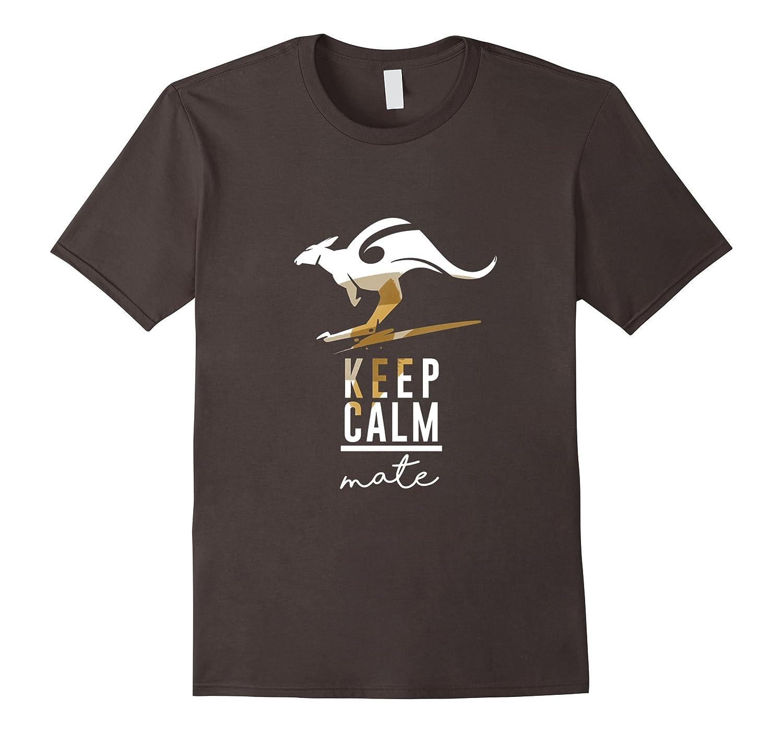 AUSTRALIA T-shirt Australian Keep Calm Kangaroo Animal Tee-AZP