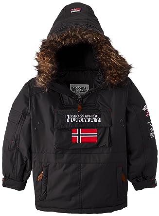 Geographical Norway Building - Chaqueta para niño, talla 8 años (8), color negro: Amazon.es: Ropa y accesorios