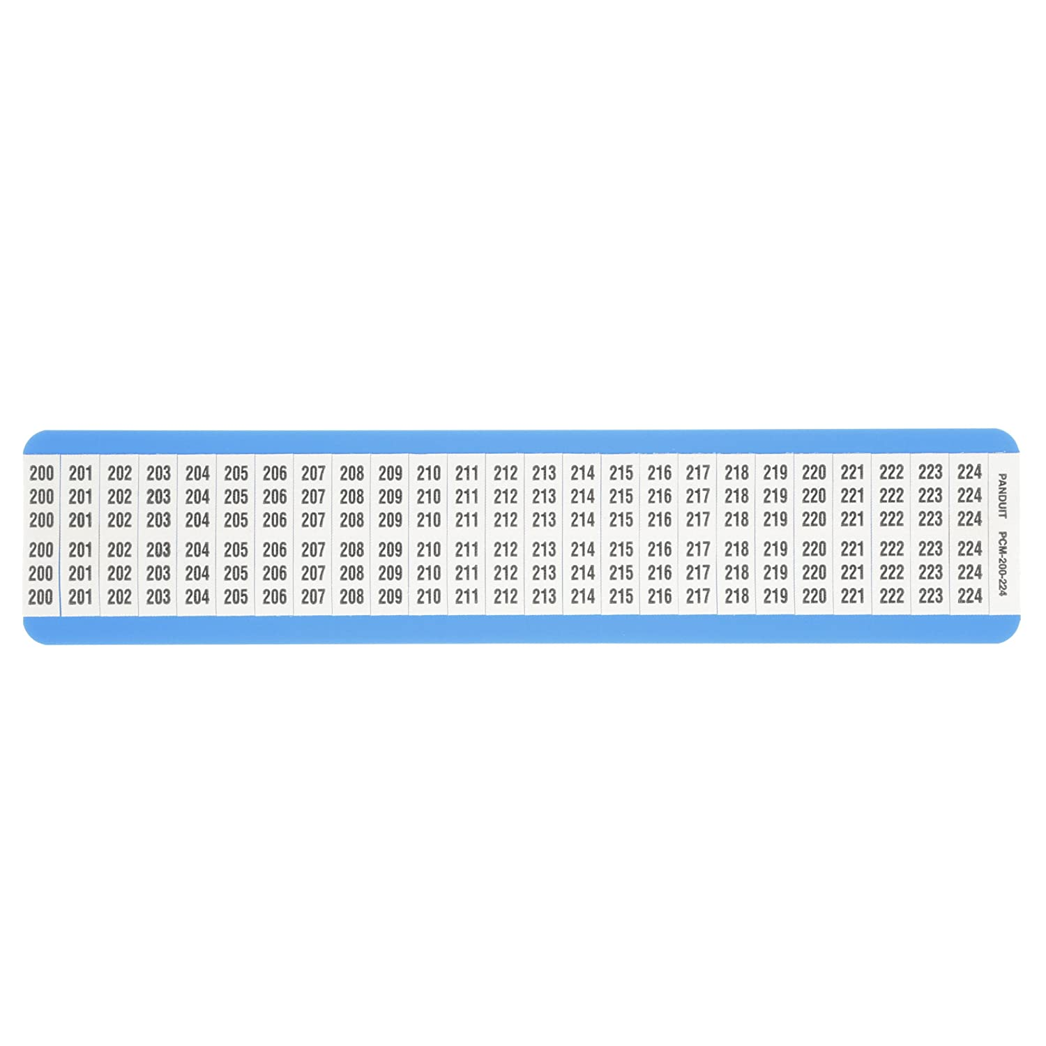 Panduit PCM-0-9 Pre-Printed Wire Marker Card 0-9 Legend Only 0.25 by 1.50-Inch L Vinyl Cloth 5-Pack