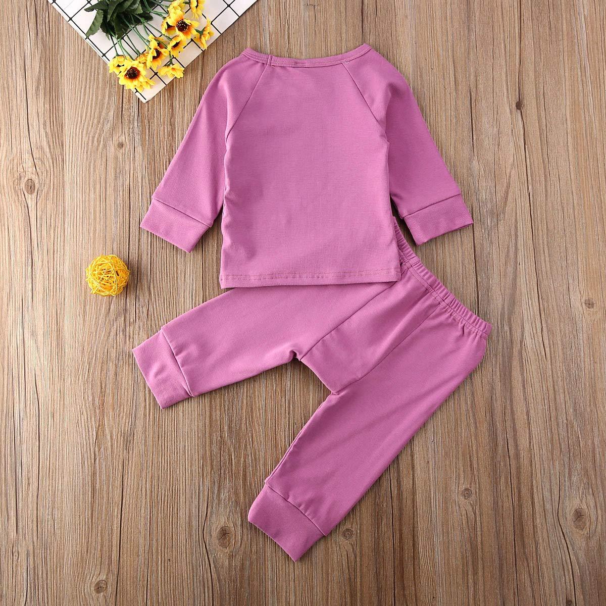 Fiomva Pantalones Blusa Blusa Blusa Conjunto de Ropa para beb/é reci/én Nacido Leggins Manga Larga Camisa de algod/ón