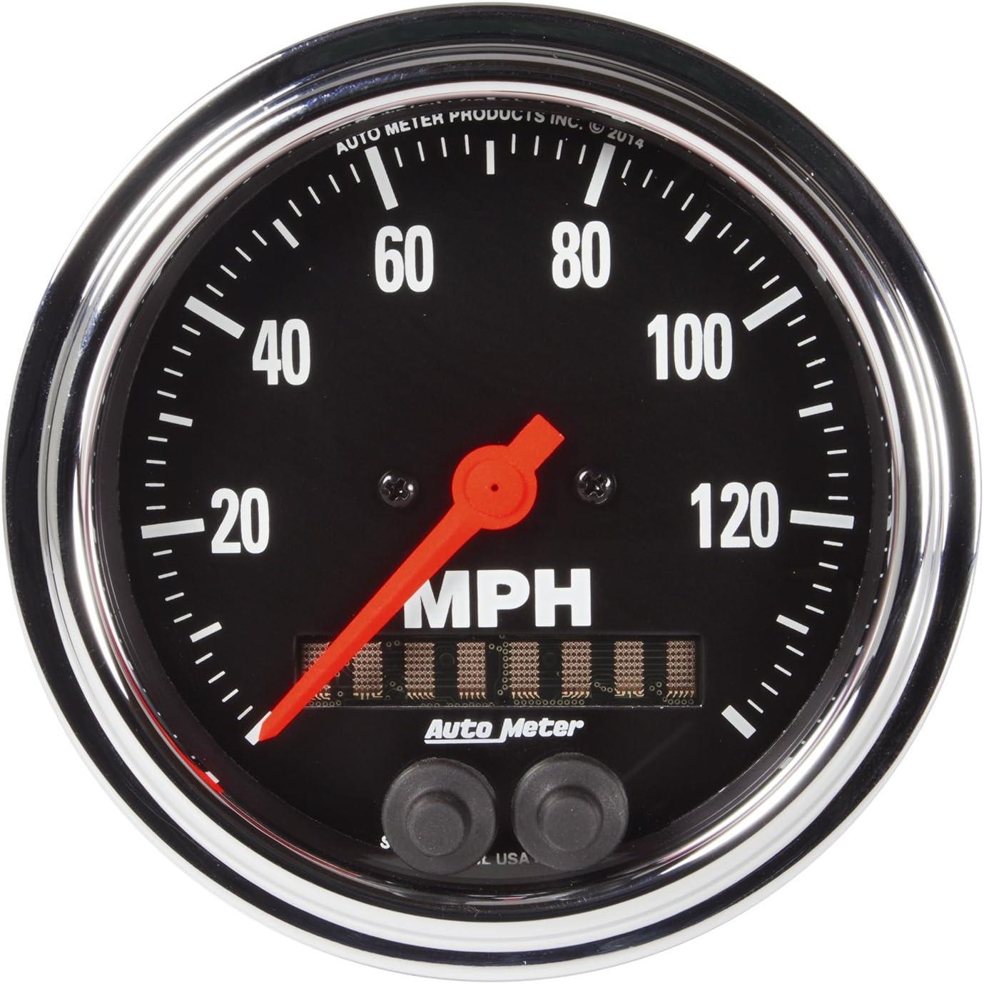 AUTO METER 1449 Designer Black 3-3//8 120 MPH GPS Speedometer Gauge