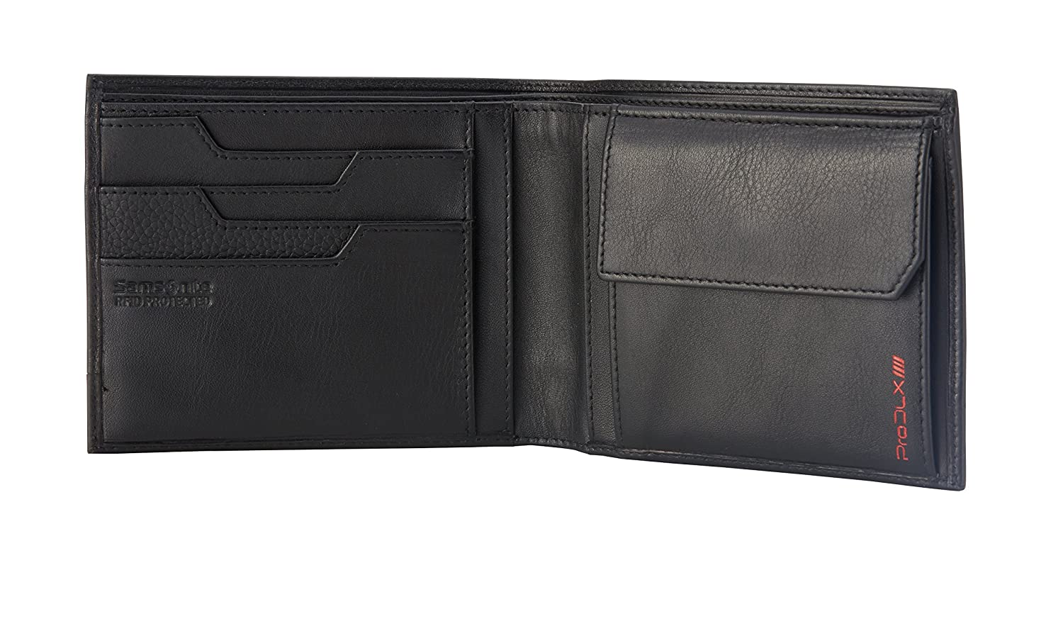 Samsonite Prod-DLX 4s RFID Billfold 8cc+2comp 4cc+2comp+c Holder Monedero, 14 cm, Negro