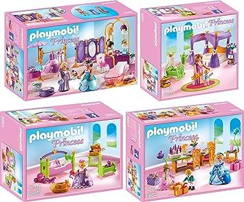 PLAYMOBIL® Princess set en 4 parties 6850 6851 6852 6854 salon de ...