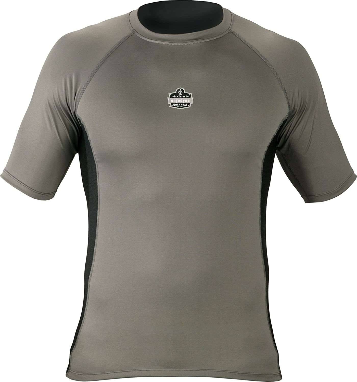 Large Ergodyne CORE Performance Work Wear 6410 Short Sleeve Shirt Gray