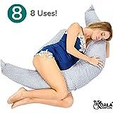 Koala Babycare® Cuscino maternitàper Dormire e Cuscino Allattamento con Supporto Lombare, Cervicale e Pancia Cuscino Premaman con di Lacci di Sicurezza, Culla Sdraietta, Riduttore Lettino KHUG Plus