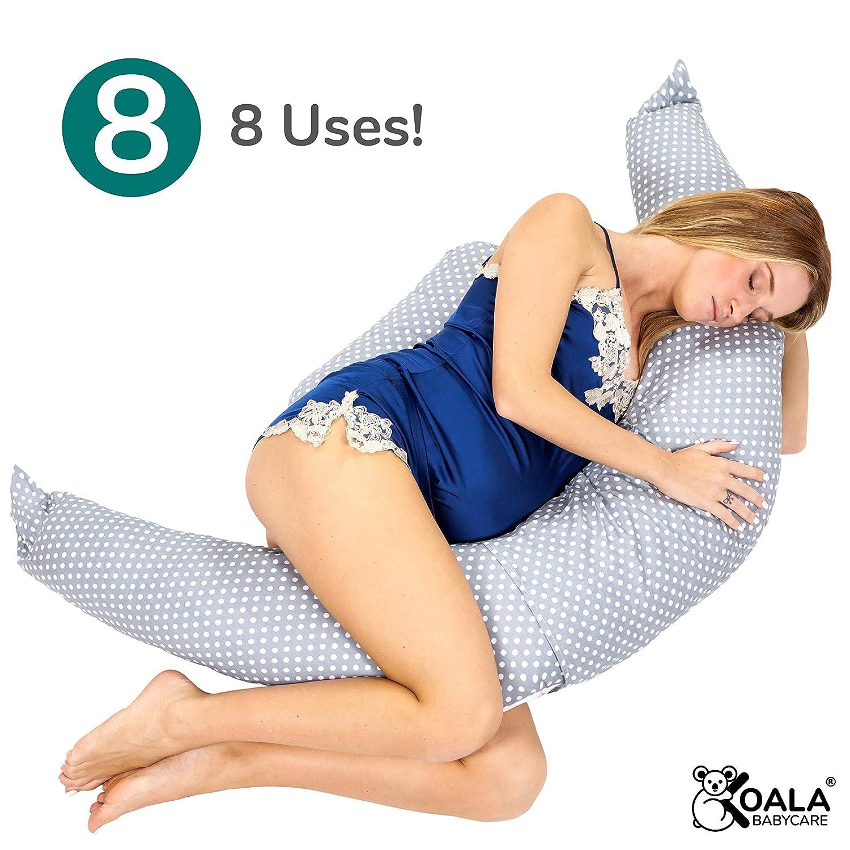 F/üllung aus Faserflocken Koala Babycare/® Schwangeren- und Stillkissen mit verdecktem Rei/ßverschluss KHUGS auch f/ür das Kinderbett zur Schlafverbesserung und als Sto/ßstange