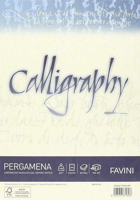 39 opinioni per Favini A692084 Calligraphy Pergamena Liscio, 50 Fogli