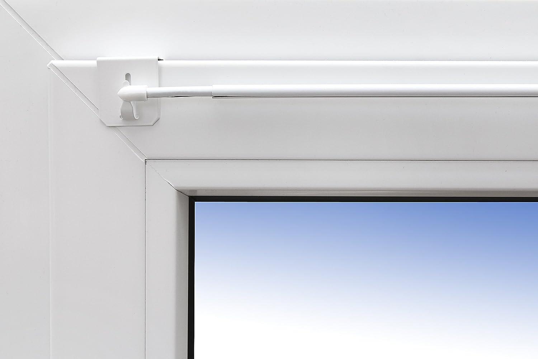 universale per l/'installazione sopra la finestra. Asta allungabile per tende Design 80-120 cm colore bianco 1 paio di supporti asta per finestre