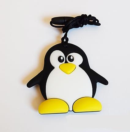 Mordedor Pingüino de silicona BPA Free dentición: Amazon.es ...
