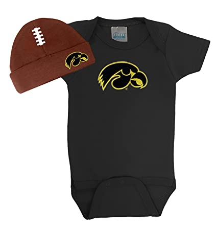 Future Tailgater Iowa Hawkeyes Baby Onesie and Football Cap Set (6 Months) 92192a3b5eb8