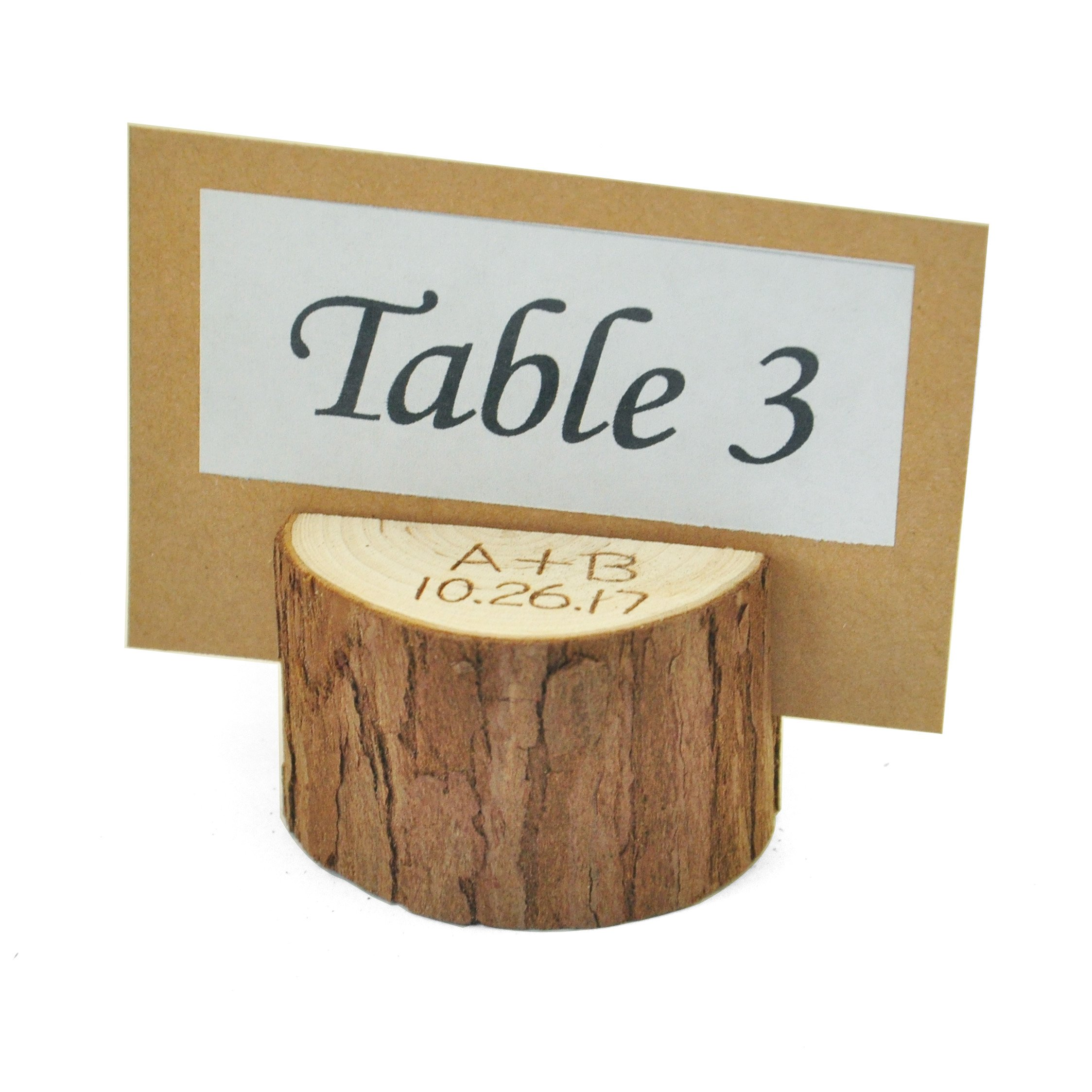 Set of 10 Personalized Wood Table Number Holder,Table Number 1-10 Holder,Wedding place card holder,Rustic table Party decor by ZXB JEWELRY (Image #5)
