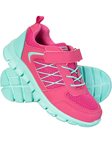 huge selection of fb025 924a6 Mountain Warehouse Lightweight Junior Trainers - Mesh Upper Sneakers, High  Traction Childrens Casual Shoes,