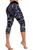 ZIKZAK Women Active Wear Leggings Capri Abstract Lycra Today's Deal