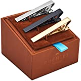 3 Pc Tie Bar Clip Set 5.4 cm for Normal Width Ties, Silver, Black, Gold w Gift Box