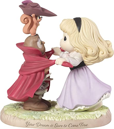 Precious Moments Disney Showcase Collection Your Dream is Sure to Come True Sleeping Beauty Bisque Porcelain 183072 Figurine, One Size, Multi