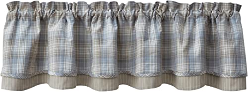 Park Designs Prairie Wood Lined Layered Valance