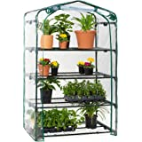 Best Choice Products 40in Wide 4-Tier Mini Greenhouse, Portable Indoor Outdoor Arboretum for Patio, Backyard, Nursery, Home G