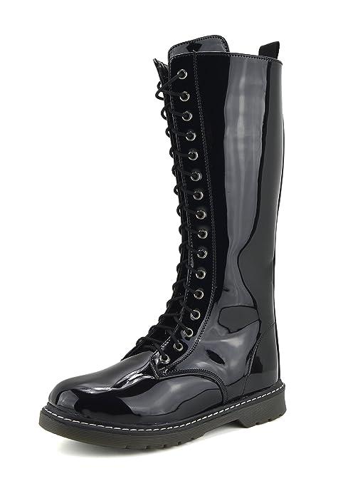 de77c59196 Botas largas para mujer con cordones de zapatos hasta la rodilla botas altas  de invierno  Amazon.es  Zapatos y complementos