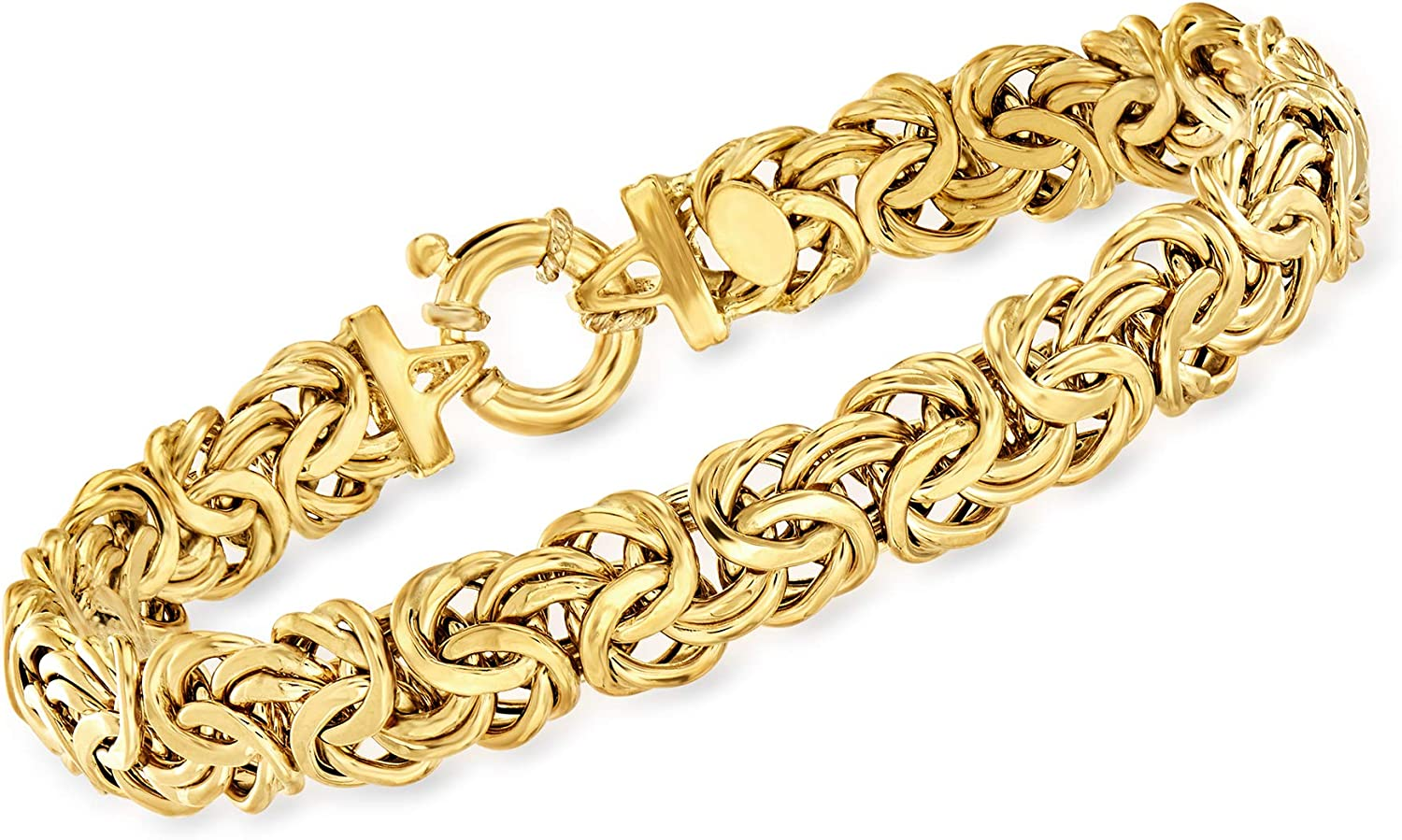 Ross-Simons Italian 18kt Yellow Gold Byzantine Bracelet For Women 7, 8 Inch Made in Italy
