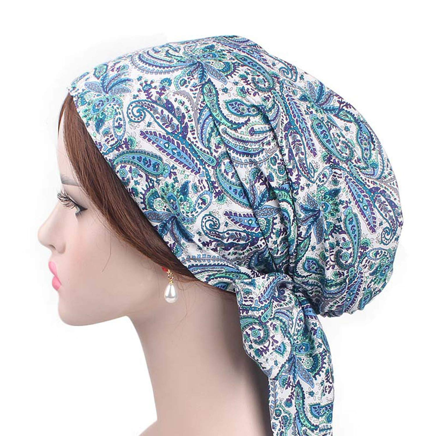 DHSPKN Chemo Headwear Cancer Cap for Women Sleep Headscarf Bonnet Headwrap by DHSPKN