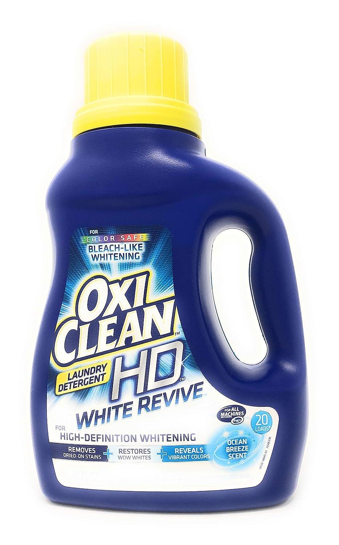 Oxiclean HDランドリー洗剤ホワイト再活性化Ocean Breeze。(Pack of 2 ) 40 oz each- 80オンス合計。 B0776596VW