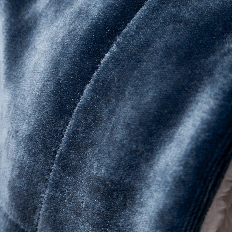 BEDSURE More than comfort Flauschige Kuscheldecke Blau Navy 130x150cm super weiche Decke mit Lammfell, Wende-Design leichte Mikrofaser Wohndecke/Sofadecke/Überwurfdecke von Bedsure