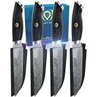 "DALSTRONG - 5"" Steak Knife Set (4 Piece) - Omega Series - BD1N-V - Hyper Steel - w/Sheath"