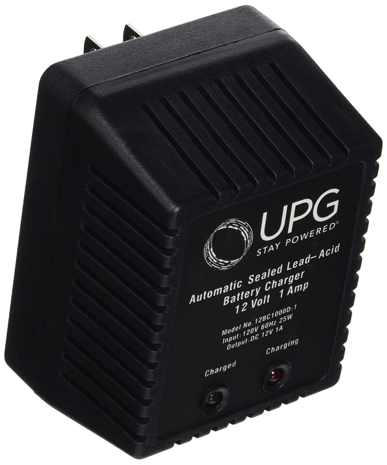 UPG D1724 Sealed Lead Acid Battery Charger (6V/12V Switchable Single-Stage with Alligator Clips) UNIVERSAL POWER GROUP