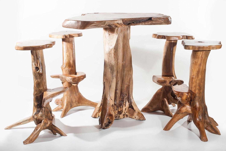 Rustikale Sitz Garnitur für den Garten ~ JURA ~ Unikat aus Wurzelholz