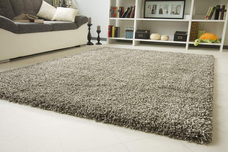 Shaggy Hochflor Teppich Funny Luxus - Sofort lieferbar - grau, Größe  140x200 cm