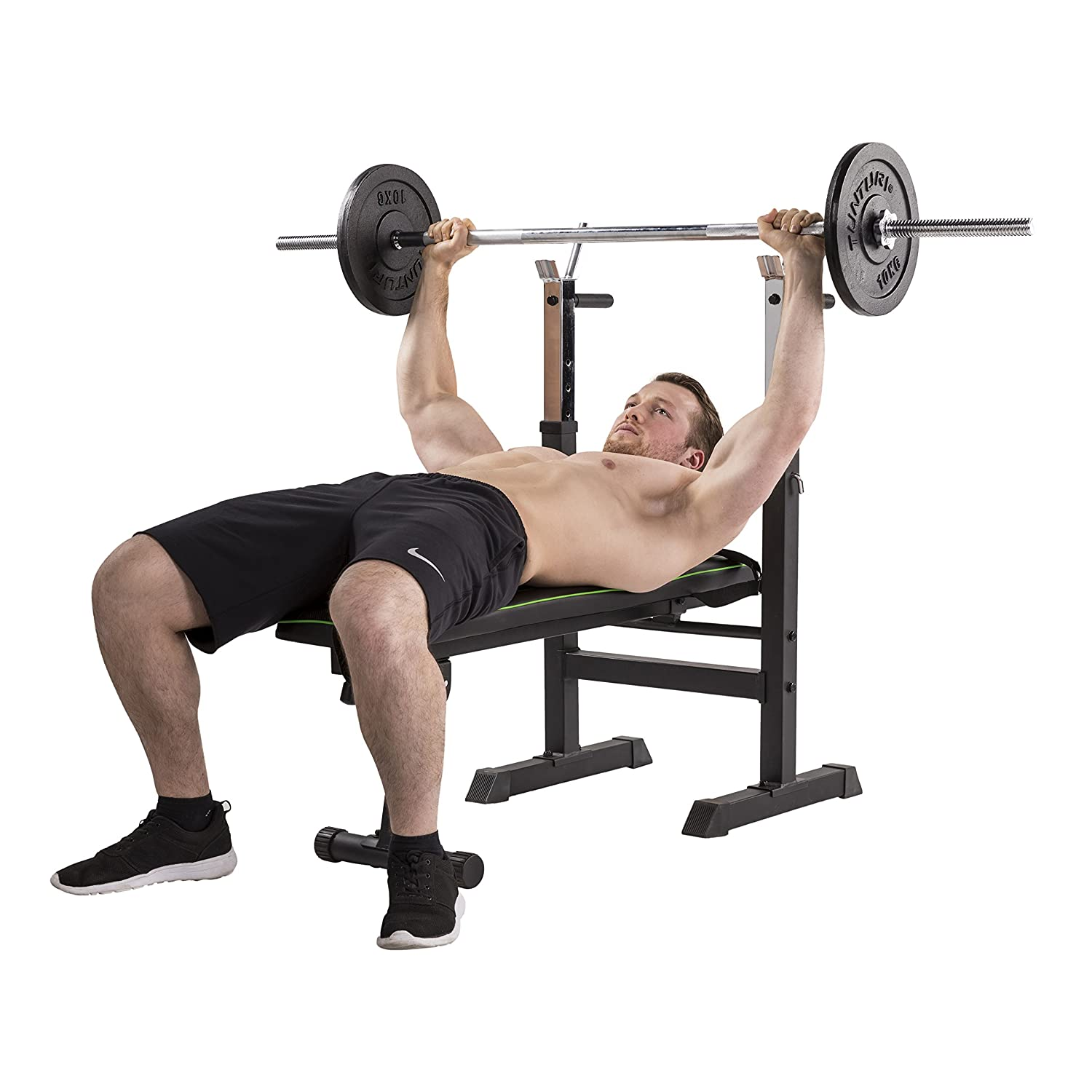 Tunturi WB20 Basic Weight Bench Hantelbank, schwarz, 1