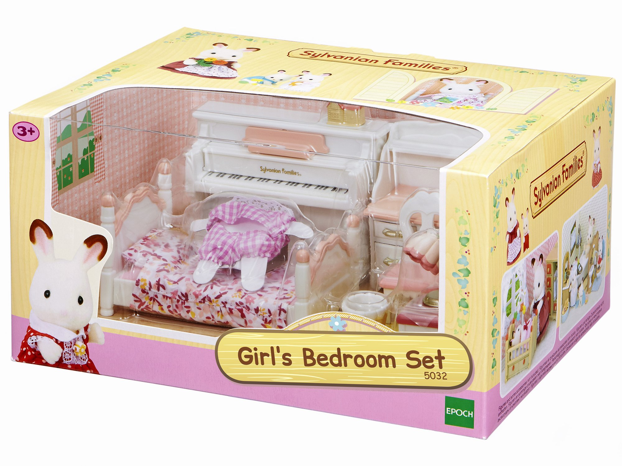 EPOCH GirlS Room Set Sylvanian Families Mini muñecas y Accesorios, Multicolor (2953) ,