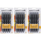 Uni-Ball Signo 307 Retractable Gel Ink Rollerball Pen, 0.7mm, Medium Point, Black Ink, 27-Count