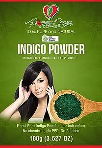 Indigo Powder 100% pure and Organic for hair colour