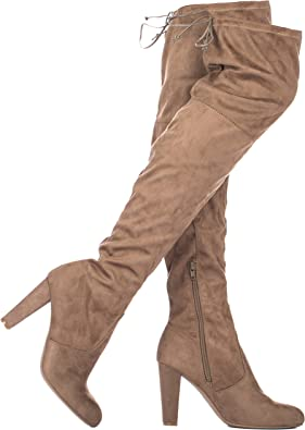 ILLUDE Women's Thigh High Stretch Boot