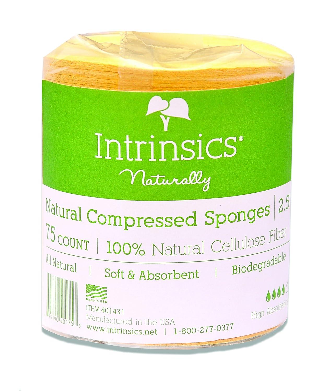 Intrinsics Natural Compressed Cellulose Sponges for Face 2.5