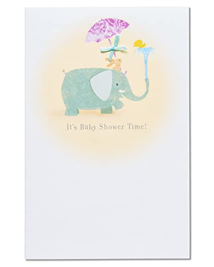 Amazon american greetings elephant baby shower congratulations american greetings elephant baby shower congratulations card with ribbon m4hsunfo