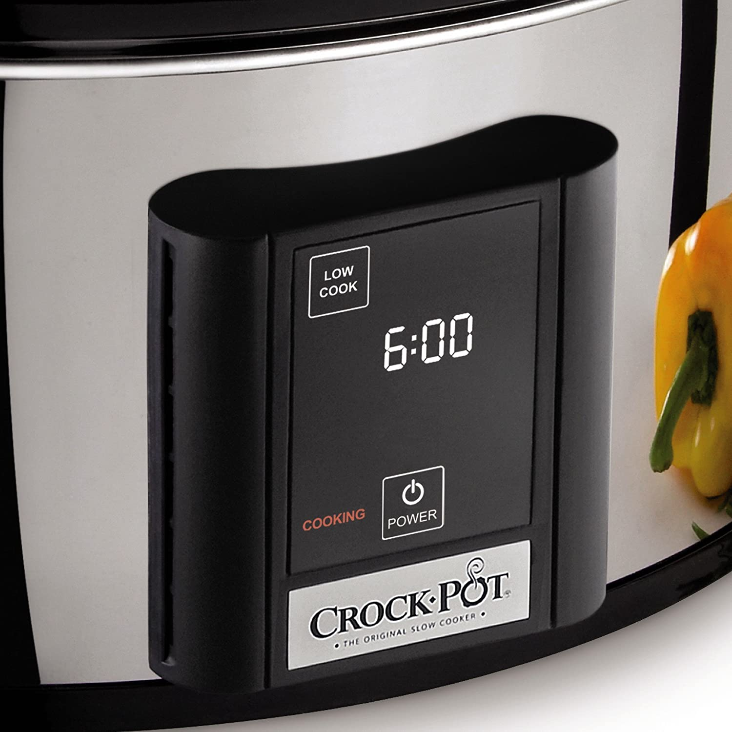 Crock-Pot 6.5-Quart, Programmable Touchscreen Slow Cooker, Silver, SCVT650-PS Crockpot SCVT650PS-S-A-NP