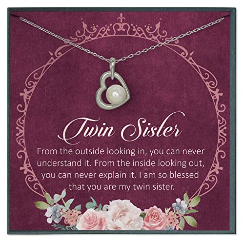 Amazon.com: Grace of Pearl Twin Sister Quotes Jewelry Happy ...