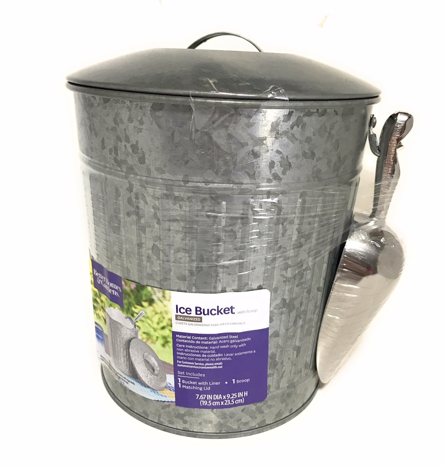 Better Homes and Gardens Ice Bucket with Scoop, Gray
