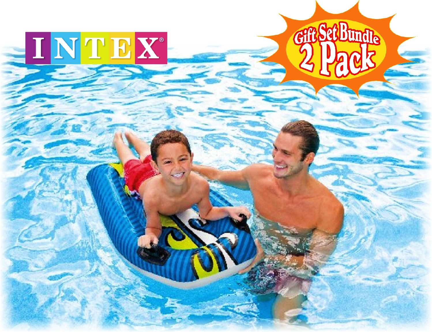 Amazon.com: Intex Joy Rider Surf n Slide Pool Floats (44