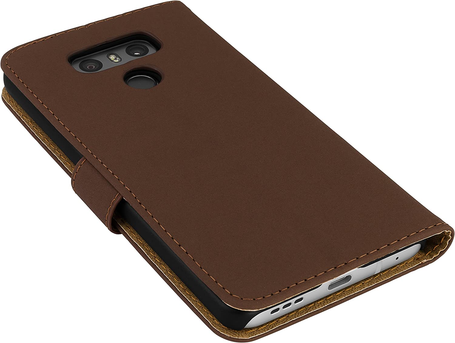 mumbi Case in Book Style for LG G6/ Brown