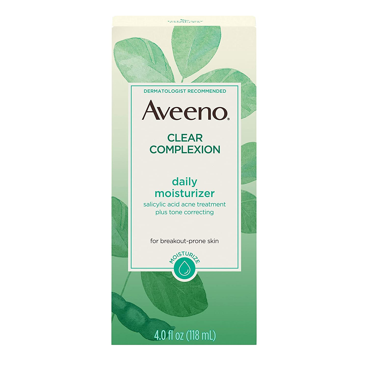 Aveeno Clear Complexion Salicylic Acid Acne-Fighting Daily Face Moisturizer with Total Soy Complex
