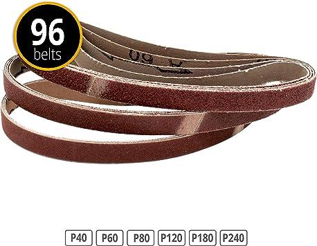 10 St/ück Gewebe-Schleifb/änder 75 x 457 mm K/örnung 60 f/ür Bandschleifer I Schleifband I P60