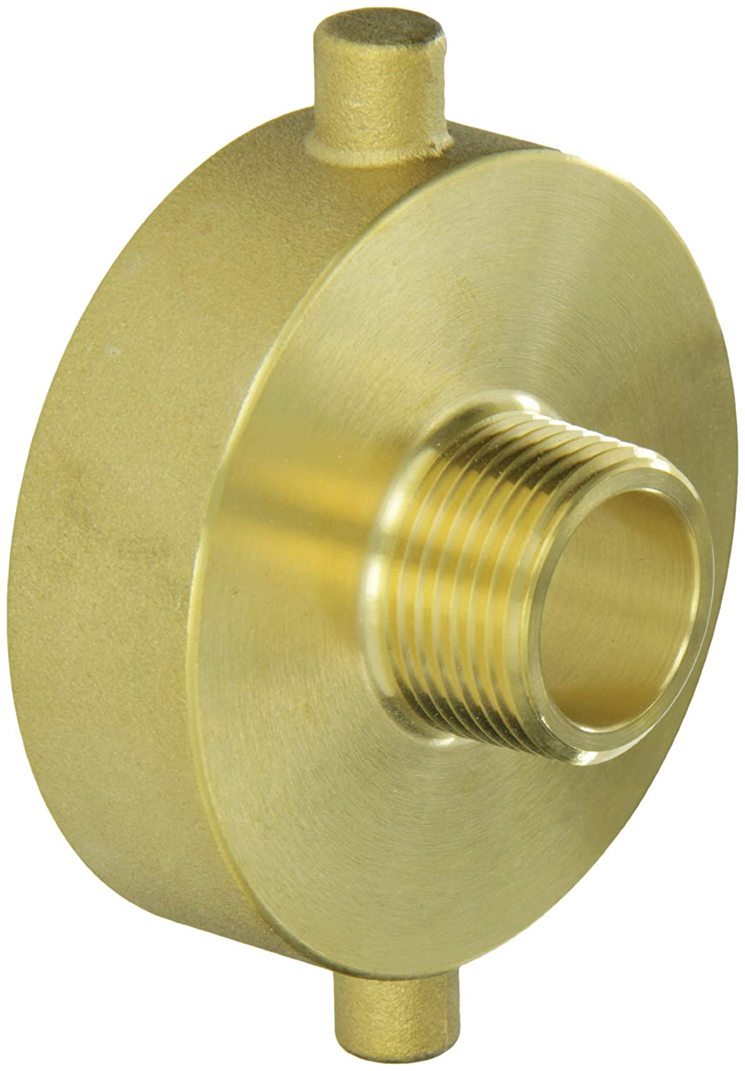 "Moon 369-2521061 Brass Fire Hose Adapter, Pin Lug, 2-1/2"" NH Female x 1"" NPT Male"