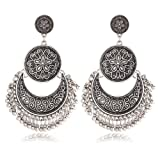 Amazon Price History for:Gmai Antique Ethnic Brocade Mexico Gypsy Engraved Lotus Hook Dangle Earrings for Women and Girls