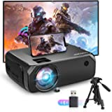 Bomaker Wi-Fi Mini Projector, 150 ANSI Lumen Portable Outdoor Movie Projector, Full HD 1920x1080p Supported Video Projector,